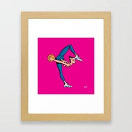 CoolNoodle in blue jeans Framed Art Print