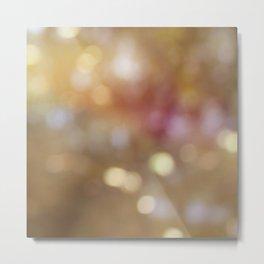Soft Golden Bokeh Metal Print