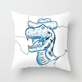 The T-Rex From TX Throw Pillow