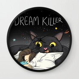 Cat Dream Killer Wall Clock