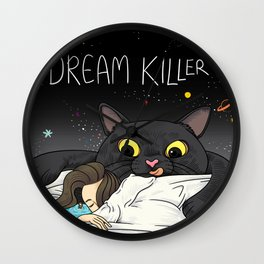 Cat Dream Killer Wall Clock