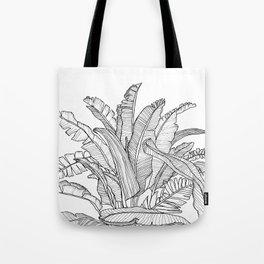 Palm Beach - Black and White Tote Bag