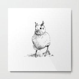 Weird Chick Metal Print