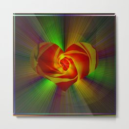 Abstract in perfection - Rose Metal Print