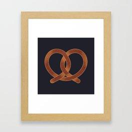 Pretzel Framed Art Print