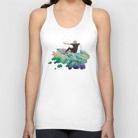 surfer Tank Tops featuring Surfer by Kyra Kalageorgi