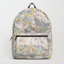 Map Of The City Of Los Angeles Backpack