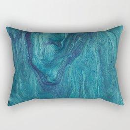 Safire blue fluid colors modern marble Rectangular Pillow