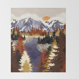 Autumn River Throw Blanket