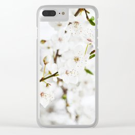 White blooming Clear iPhone Case