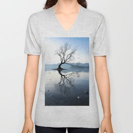 The Wanaka Tree, South Island, New Zealand Unisex V-Neck