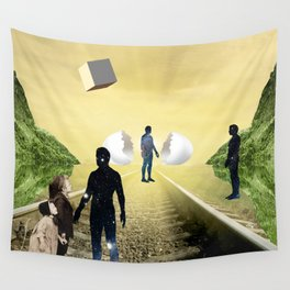 Warm Meeting  Wall Tapestry