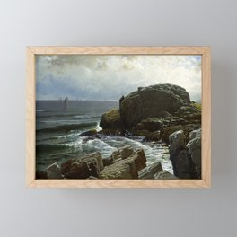 Castle Rock, Marblehead, 1878 by Alfred Thompson Bricher Framed Mini Art Print
