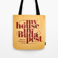 budapest Tote Bags featuring Budapest by Lowso