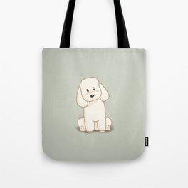 Toy Poodle Dog Illustration Tote Bag