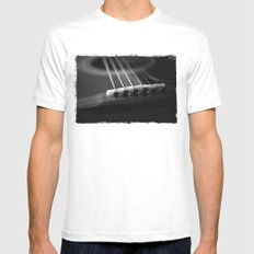 Strings White MEDIUM Mens Fitted Tee