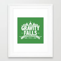 gravity falls Framed Art Prints featuring Camp Gravity Falls  by MoviTees