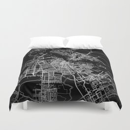 Amsterdam map Duvet Cover