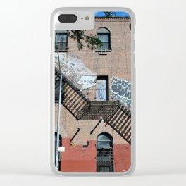 Williamsburg Brooklyn Building Clear iPhone Case