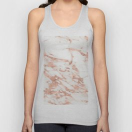 Taggia rose gold marble Unisex Tank Top