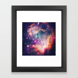 The Universe under the Microscope (Magellanic Cloud) Framed Art Print