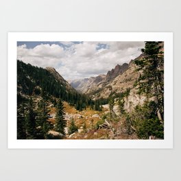 The View from Above 10,000 ft - Wyoming Wilderness Art Print