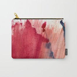 Blushing [3]: a vibrant, minimal abstract in pink, red, rose gold, and blue details Carry-All Pouch