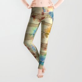 Numerably Touch Flowers  ID:16165-132620-50181 Leggings