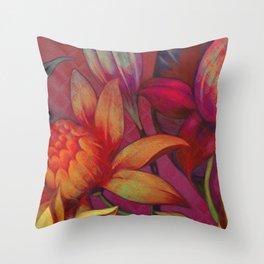 """""""Retro Giant Floral Pattern"""" Throw Pillow"""
