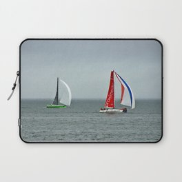part 4 of 4 of Sailing Battle 42-56  - Transat Quebec St-Malo Laptop Sleeve