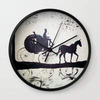 cinderella Wall Clocks featuring Cinderella  by Lamont Powell