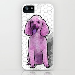 Poodle in Amethyst Mosaic iPhone Case