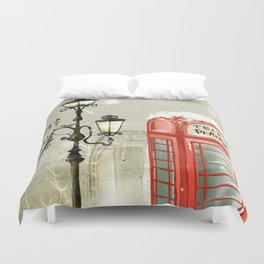 Red Cabin Duvet Cover