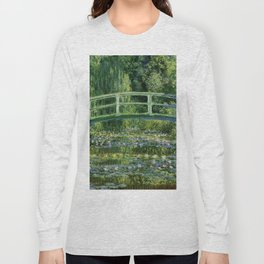 Water Lilies And The Japanese Bridge Claude Monet Long Sleeve T-shirt