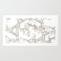 the office Art Prints featuring office by anil yanik