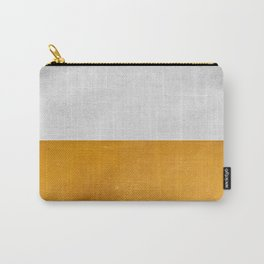 Wabi Sabi - Gold and Grey Texture Carry-All Pouch