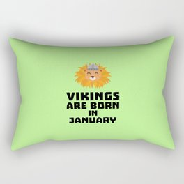 Vikings are born in January T-Shirt for all Ages Rectangular Pillow