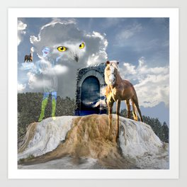 Horseplay For The Divine Art Print