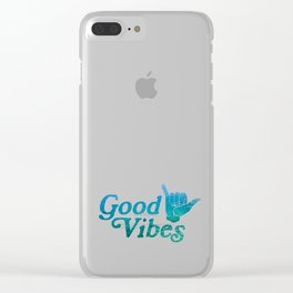 Good Vibes Shaka Clear iPhone Case