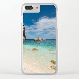 beach rocky Clear iPhone Case