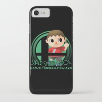 smash bros iPhone & iPod Cases featuring Villager - Super Smash Bros. by Donkey Inferno
