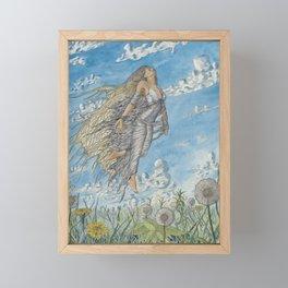 Dandelion Wishes Framed Mini Art Print