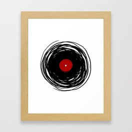 Spinning within with a vinyl record... Framed Art Print