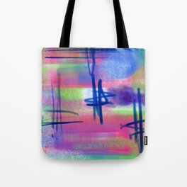 Blue Scribble Background Tote Bag