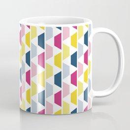 Pink, Blue & Yellow Trapezoids Coffee Mug