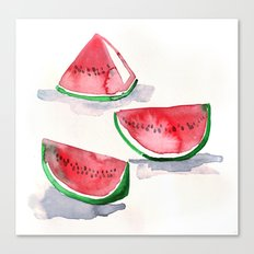 watermelon sketch Canvas Print