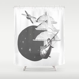 The Hunt for Treasure Planet Shower Curtain