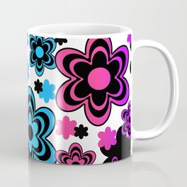 Rainbow Floral Abstract Coffee Mug
