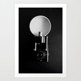 Black and white vintage camera photograph Art Print