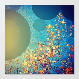 Sky and Leaves Canvas Print